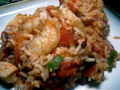 Stephanie Cooks: Chicken and Shrimp Jambalaya