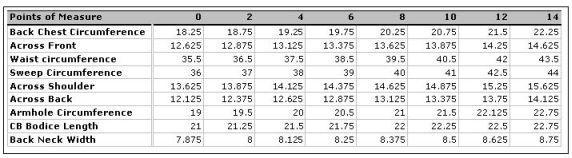 j crew size chart mens