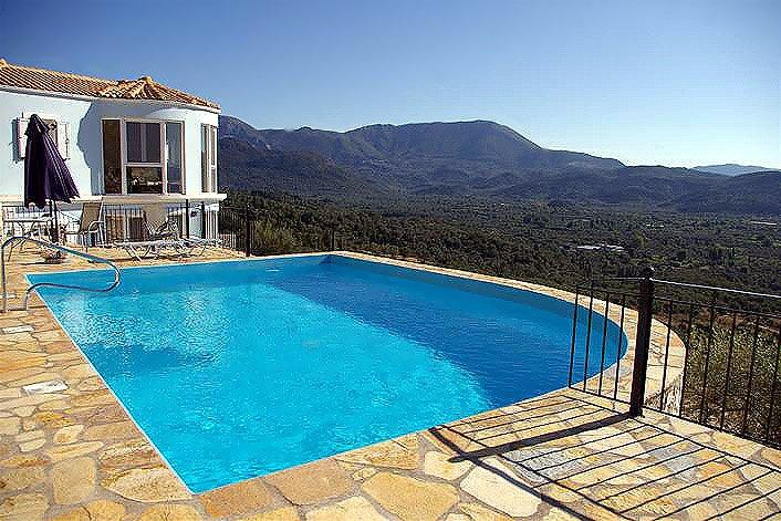 Greece villa, villa with pool