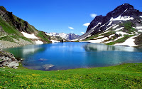 mountain lake nature widescreen wallpaper