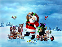Cute Christmas Santa Wallpaper