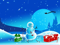 wallpaper christmas snowman gifts santa