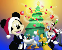 merry christmas mickey mouse wallpaper