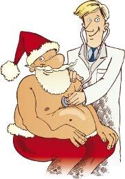Santa at Doctor Cartoon