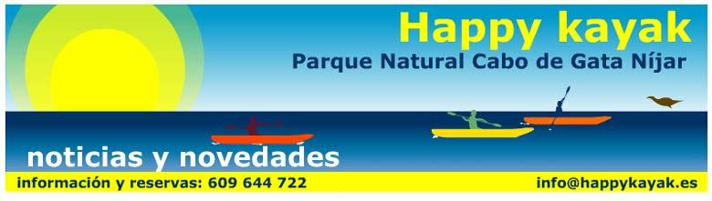 Happykayak. Kayak en Cabo de Gata