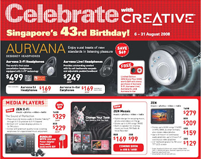 Creative Celebrates Singapore's 43rd Birthday!