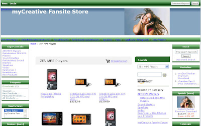 myCreative Fansite Online Store