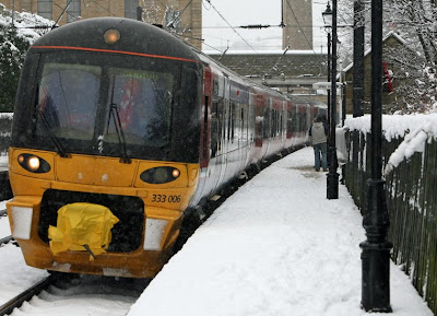 Saltaire Station Snow