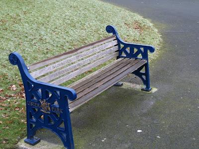 Park Bench on Park Bench Lister Park Bradford Robert Robb
