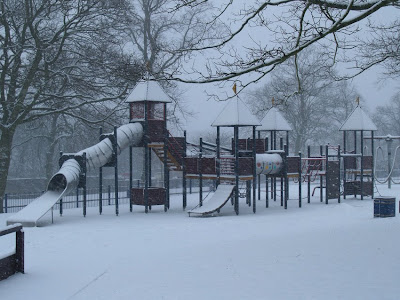Play Area Snow Lister Park Bradford