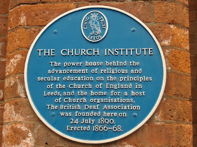 Leeds Church intstitute plaque