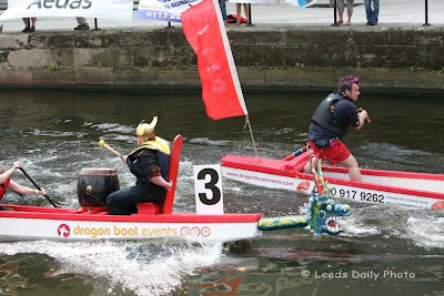 Dragon Boats Racing Clarence Dock Leeds 2009