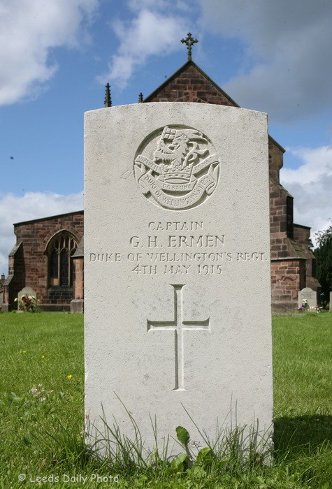 War Grave Captain G H Ermen DWR Yorkshire