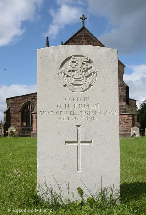 War Grave Captain G H Ermen DWR Yorkshire
