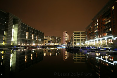 Clarence Dock Leeds Night