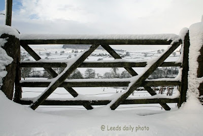 Gate in Snow Yorkshire