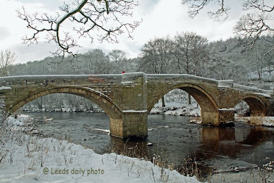 Barden Bridge Yorkshire Snow