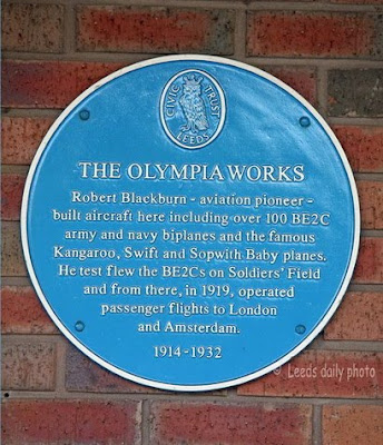 Blue Plaque Olympia Works Leeds
