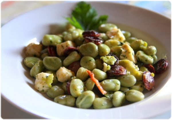 Tasca da Elvira: Salade de fèves d'inspiration alentejane