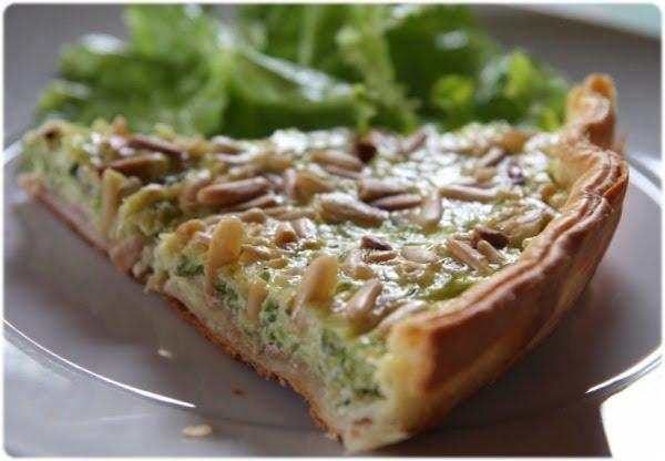 Tasca da elvira tarte aux courgettes jambon cru et pignons - Tarte soleil jambon cru ...