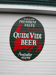 Quidi Vidi Brewery company hand painted beer mural New Foundland Canada North America
