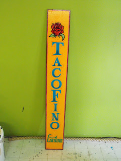 TacoFino advertisng traditional signage dobell designs hand painted by Dobell signs north america