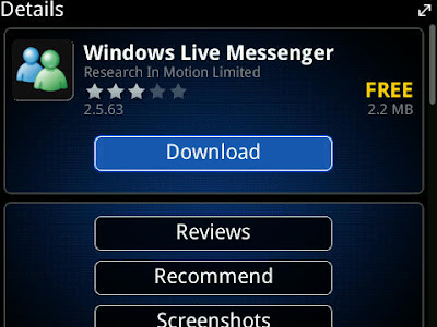 Windows Live Messenger for BlackBerry® smartphones allows you to chat in virtual real time with your instant messaging IM contacts when and where you want to, not just when you're in front of your computer.