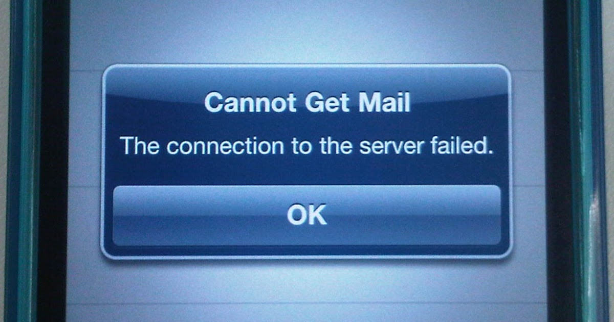 Knowledge Base.: iPhone : Cannot Get Mail The Connection to server ...