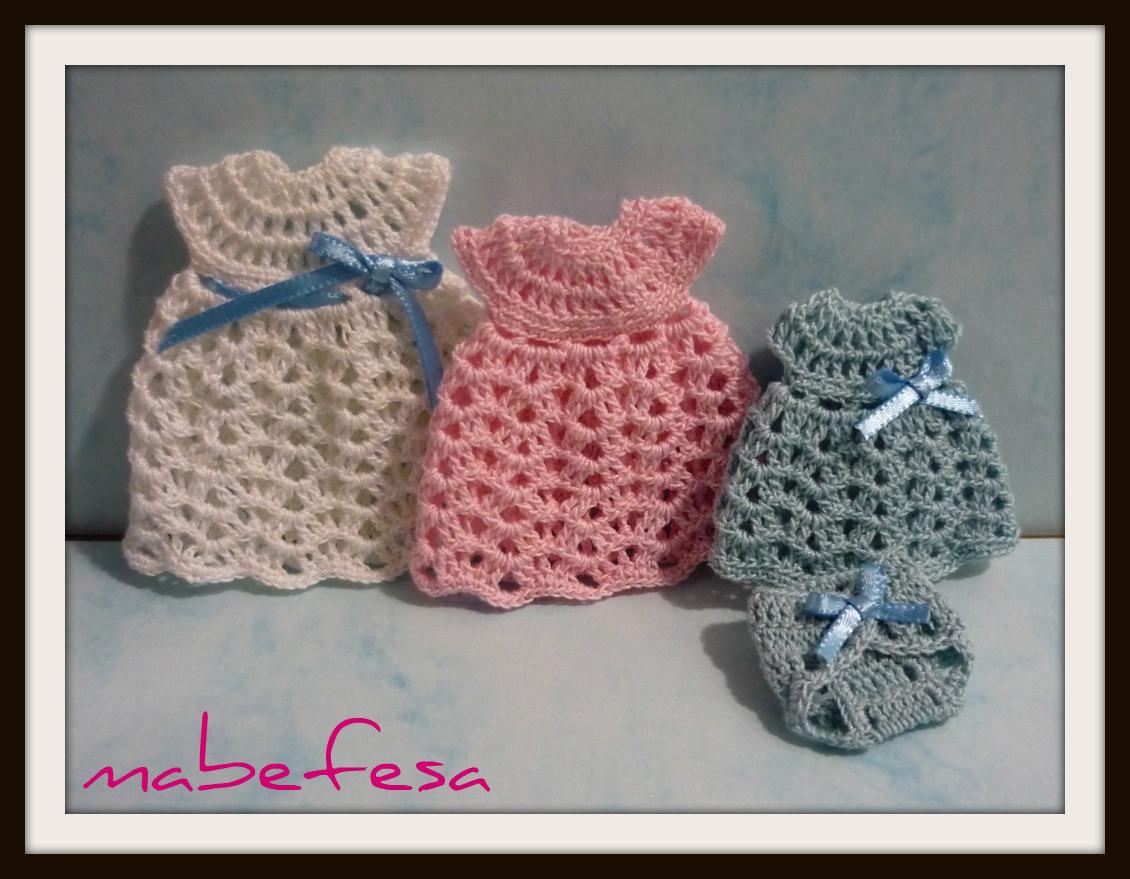 Vestidos tejidos en crochet para niñas