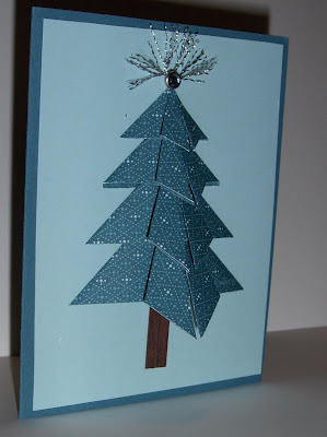 christmastree origami and scrapbooking