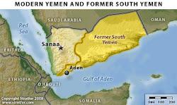 خارطة اليمن الجنوبي بعد اعلان استقلاله في الـــ 30 من نوفمبر 1967م