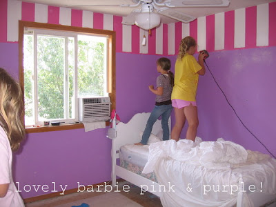 Beds For 13 Year Olds ticking and toile: barbies to beach bedroom transformation