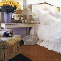toile, white &amp; sisal....favorite combo