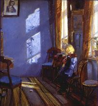 Sol en la habitación azul