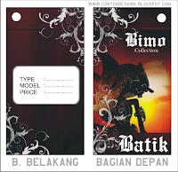 Contoh Desain Tag Baju (Batik)