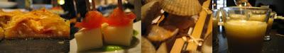 Casa Solla: empanada, berberechos al minuto, chupitos de calabaza, micropinchos