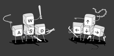 Teclados WASD [post pobre y sin sentido]