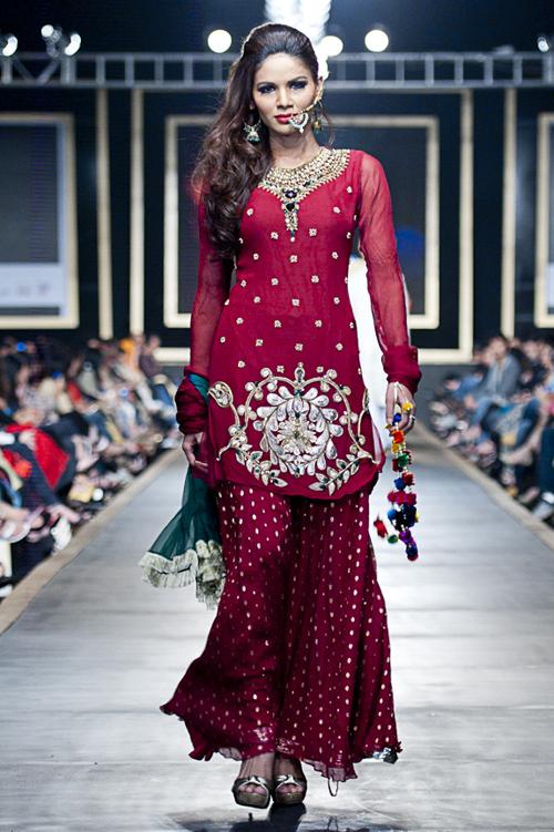 Pakistan Bridal Couture Week 2010 Fahad Hussayn