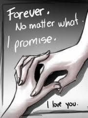 holding hands forever, no matter i promise, i love you