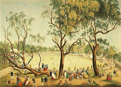A Cricket Match at the MCG in 1864