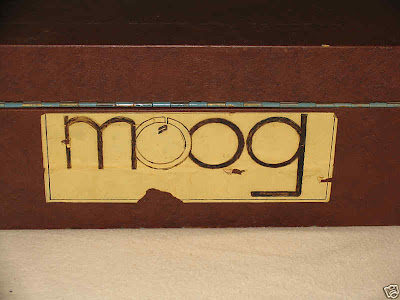 The custom Moog sticker below is on the outside of the case.