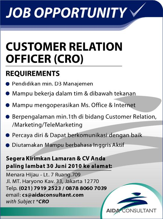 job vacancy lowongan june 2010
