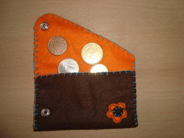 bolsa moedas feltro