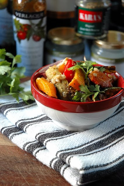 Moroccan Barley and Roasted Vegetable Salad - My Easy Cooking