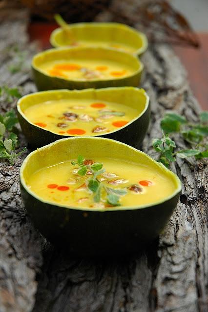 Spicy butternut soup