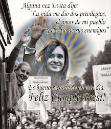 ¡FELIZ CUMPLE, COMPAÑERA PRESIDENTA!