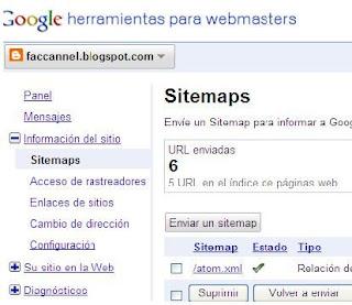Herramientas webmaster Google envio sitemap atom.xml, solución al problema de blogs de más de 26 páginas (Trucos Blogger)