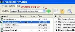 FREE MONITOR: software seo gratis para posicionar un blogW title=