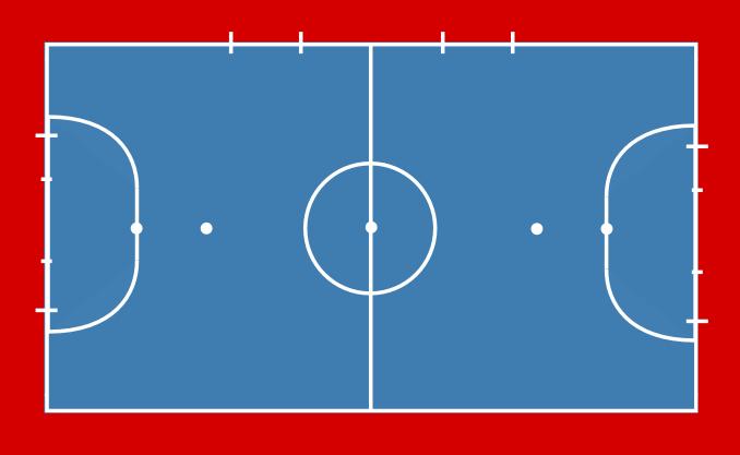 El campo de f tbol sala futbolsala for Pista de futbol sala medidas