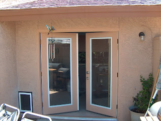 Screw it online french doors and large wall mounted dog door for French door with dog door